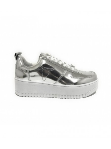Sneakers Windsor smith Donna Racerr Argento