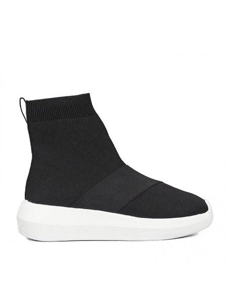 Sneakers Fessura Donna Hi-twins knit Black