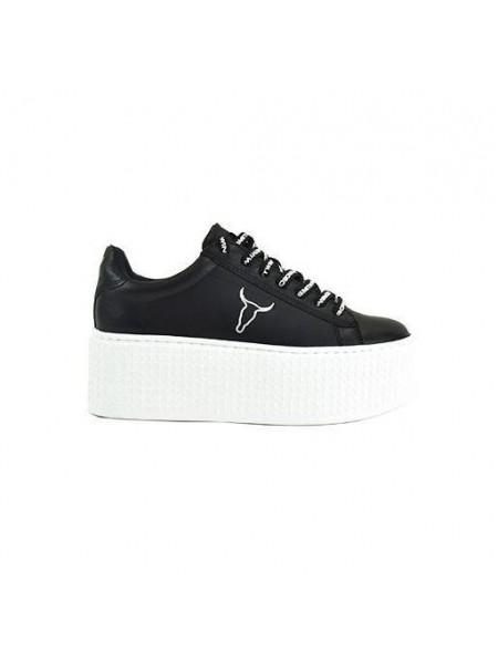 Sneakers Windsor smith Donna Seoul Nero bianco