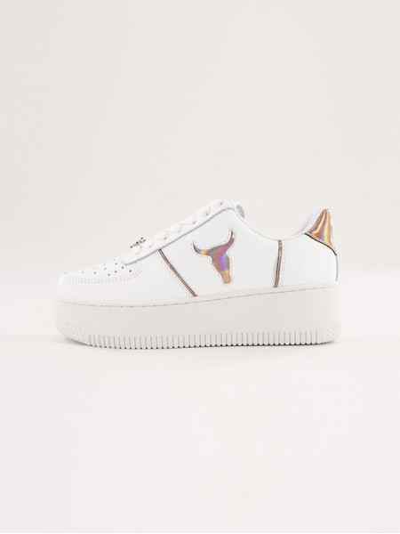 Sneakers Windsor smith Donna Rosy White/rose g