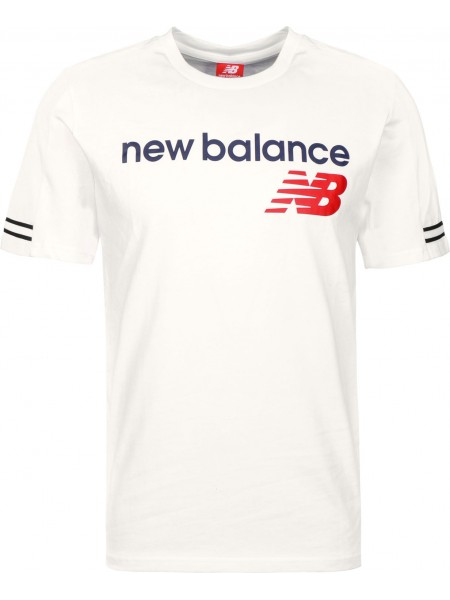 T-shirt New balance Uomo Mt91531 White