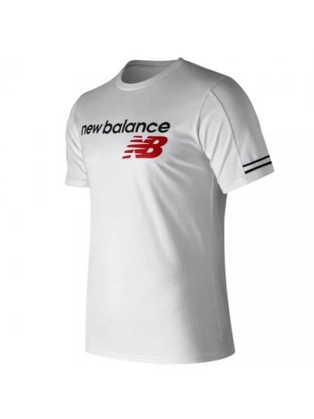 T-shirt New balance Uomo Mt91531 White